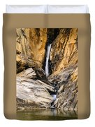 Attagar Falls In Western Ghats Duvet Cover