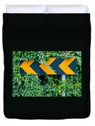 Attention Road Sign  Duvet Cover