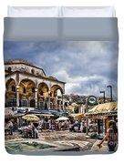Attiki Metro Station Athens Duvet Cover