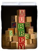 Aubrey - Alphabet Blocks Duvet Cover