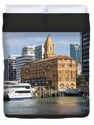Auckland Ferry Terminal Duvet Cover