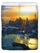 Auckland Oil On Canvaz Duvet Cover