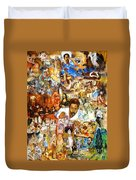 Audience With The Geniuses Of Art Duvet Cover