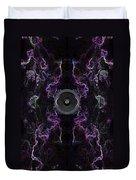 Audio Purple Neon Duvet Cover