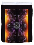 Audio Purple Orange Duvet Cover