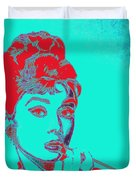 Audrey Hepburn 20130330v2p128 Square Duvet Cover