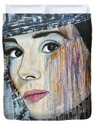 Audrey Hepburn-abstract Duvet Cover