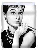 Audrey Hepburn Artwork Duvet Cover
