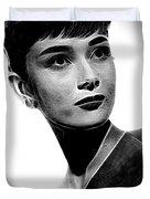 Audrey Hepburn - Black And White Duvet Cover
