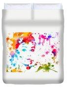 Audrey Hepburn Paint Splatter Duvet Cover