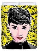 Audrey Hepburn Pop Art Duvet Cover