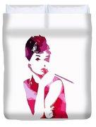 Audrey Pop Art Duvet Cover