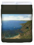 August Afternoon At Whitsand Bay Cornwall Duvet Cover