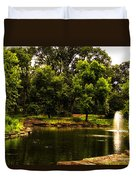 August By The Fountain Duvet Cover