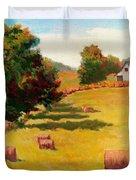 August Hay Field Duvet Cover