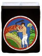 August - Threshing Wheat Duvet Cover