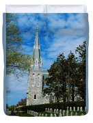 Augustinian Cemetery And Church Duvet Cover