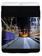 Auke Bay By Night Duvet Cover