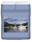 Auke Bay Harbor Duvet Cover