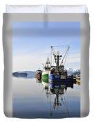 Auke Bay Reflection Duvet Cover
