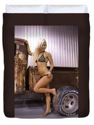 Auriel Rusty Rat Rod 1 Duvet Cover
