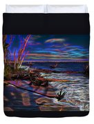 Aurora Borealis Over Florida Duvet Cover