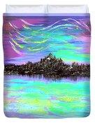 Aurora Borealis Poster Duvet Cover