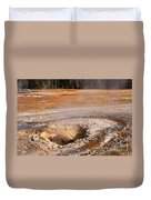 Aurum Geyser In Upper Geyser Basin In Yellowstone National Park Duvet Cover