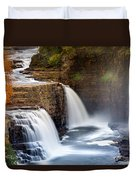 Ausable Chasm Waterfall Duvet Cover