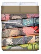 Aussie Dollars 01 Duvet Cover