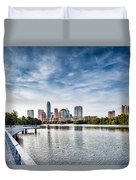 Austin Boardwalk View On Lake Duvet Cover
