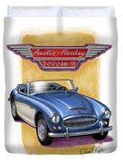 Austin Healey 3000 Blue-white Duvet Cover