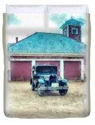 Austin Seven Watercolor Duvet Cover