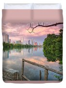 Austin Skyline From Lou Neff Point Duvet Cover