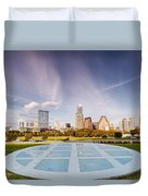 Austin Skyline From The Longs Center For The Performing Arts Duvet Cover