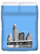 Austin Skyline - Sky Blue Duvet Cover