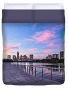 Austin Skyline At Sunset Duvet Cover