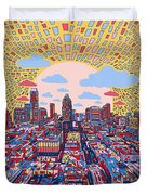 Austin Texas Abstract Panorama 2 Duvet Cover