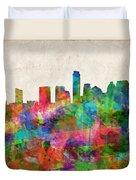 Austin Texas Abstract Panorama 4 Duvet Cover