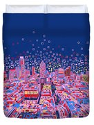 Austin Texas Abstract Panorama Duvet Cover