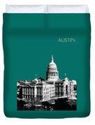 Austin Texas Capital - Sea Green Duvet Cover
