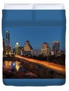 Austin, Texas Cityscape Evening Skyline Duvet Cover