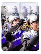 Austin Texas - Marching Band Celebrate Duvet Cover