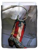Austin Texas - Red White Blue Sequin Duvet Cover
