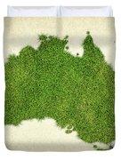 Australia Grass Map Duvet Cover