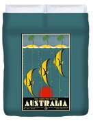 Australia Vintage Travel Poster Duvet Cover