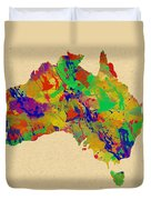 Australia Watercolor   Duvet Cover