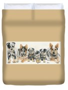 Australian Cattle Dog Puppies Duvet Cover