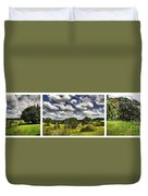 Australian Countryside - Floating Clouds Collage Duvet Cover by Kaye Menner