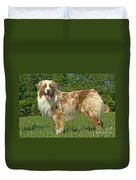 Australian Shepherd Dog Duvet Cover